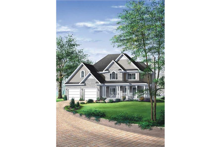 3-Bedroom, 2461 Sq Ft Multi-Level Home Plan - 157-1433 - Main Exterior