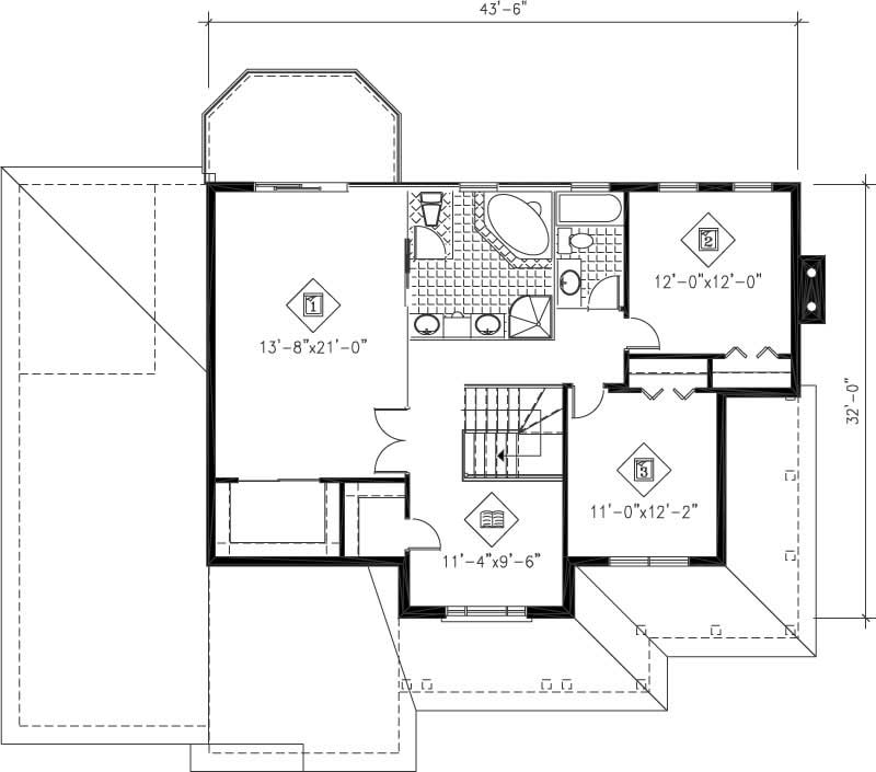 Multi level house plans home design pi 20581 12233 for Multi level floor plans