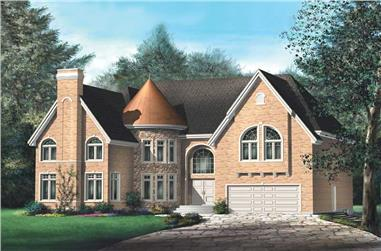 6-Bedroom, 4484 Sq Ft Luxury House Plan - 157-1434 - Front Exterior