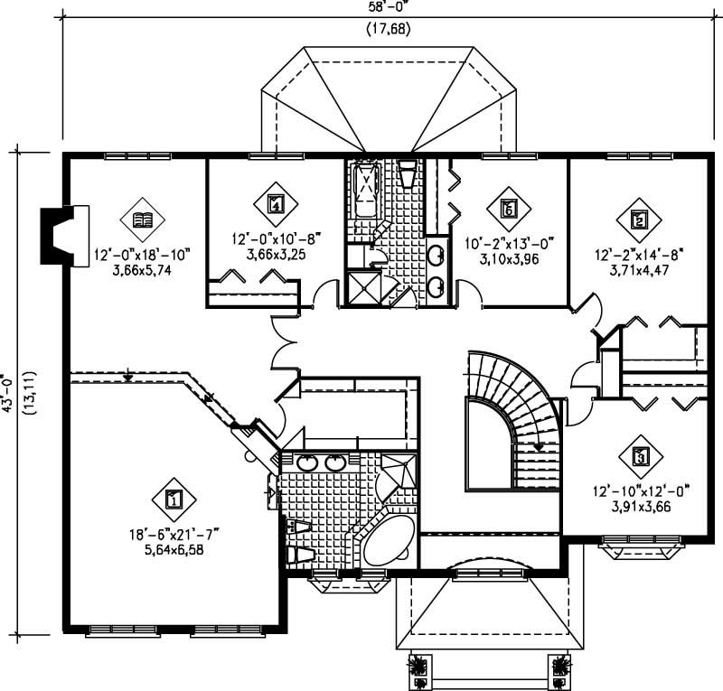 Luxury Multi Level French European House Plans Home