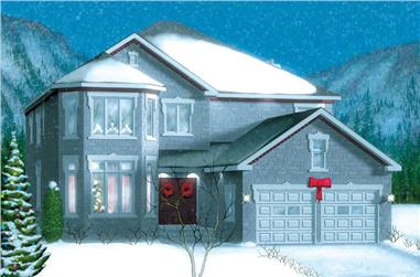 4-Bedroom, 3798 Sq Ft European House Plan - 157-1436 - Front Exterior