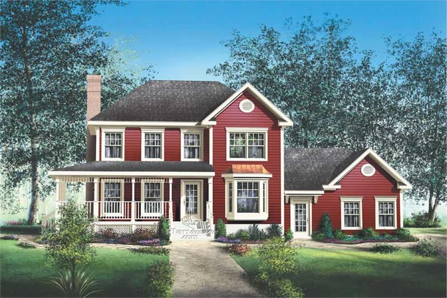 3-Bedroom, 1807 Sq Ft Multi-Level House Plan - 157-1437 - Front Exterior
