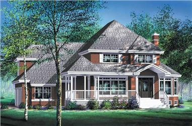 3-Bedroom, 2888 Sq Ft Multi-Level House Plan - 157-1438 - Front Exterior