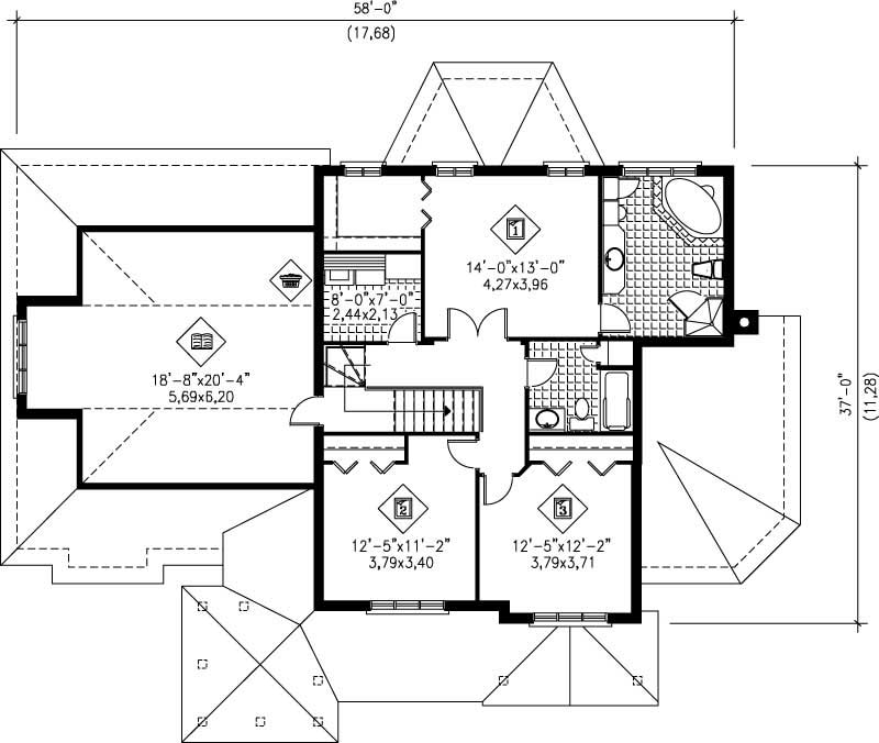 Multi level house plans home design pi 20739 12240 for Multi level floor plans