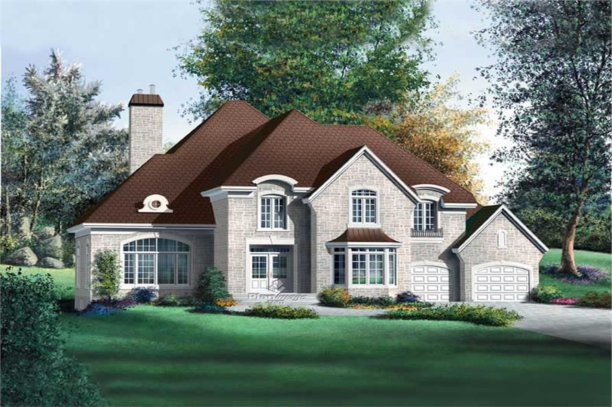 4-Bedroom, 4014 Sq Ft Multi-Level House Plan - 157-1439 - Front Exterior