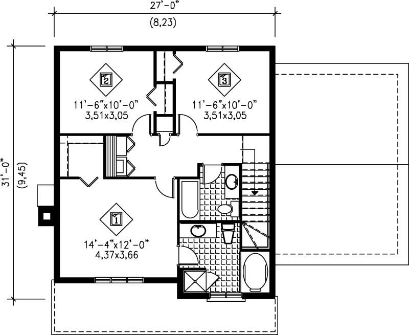 Multi level house plans home design pi 20509 12227 for Multi level floor plans