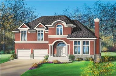 3-Bedroom, 2994 Sq Ft Multi-Level Home Plan - 157-1445 - Main Exterior