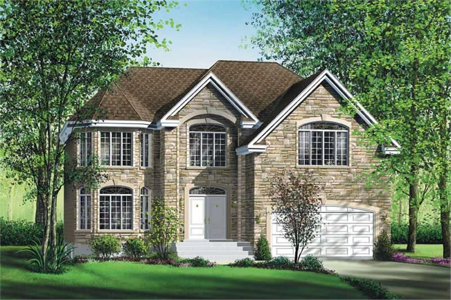 4-Bedroom, 3303 Sq Ft Multi-Level Home Plan - 157-1446 - Main Exterior