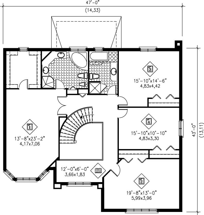 Multi level house plans home design pi 20489 12225 for Multi level floor plans