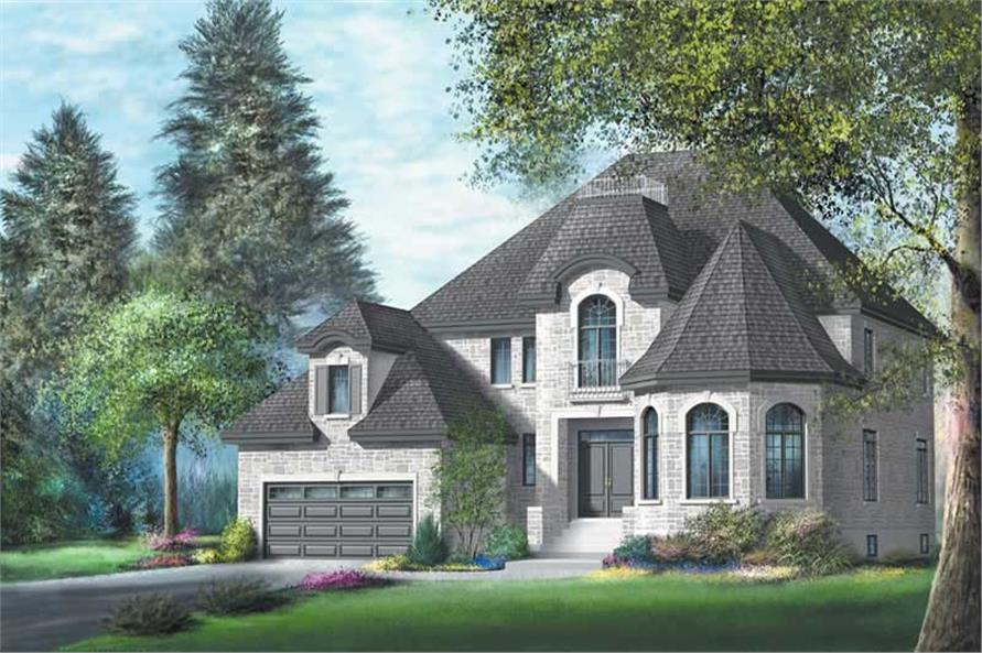 5-Bedroom, 3470 Sq Ft Multi-Level Home Plan - 157-1447 - Main Exterior