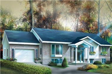 3-Bedroom, 1278 Sq Ft Ranch House Plan - 157-1448 - Front Exterior