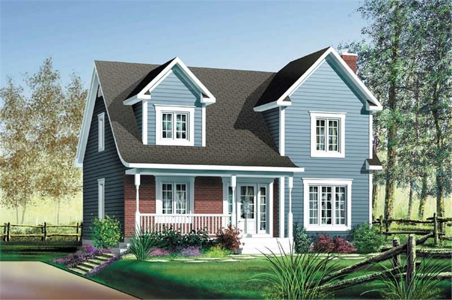 3-Bedroom, 1591 Sq Ft Multi-Level House Plan - 157-1449 - Front Exterior