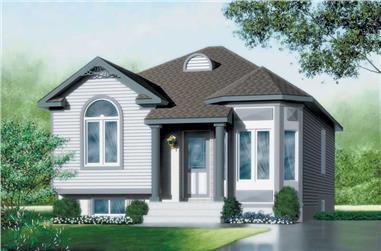 2-Bedroom, 921 Sq Ft Bungalow Home Plan - 157-1450 - Main Exterior