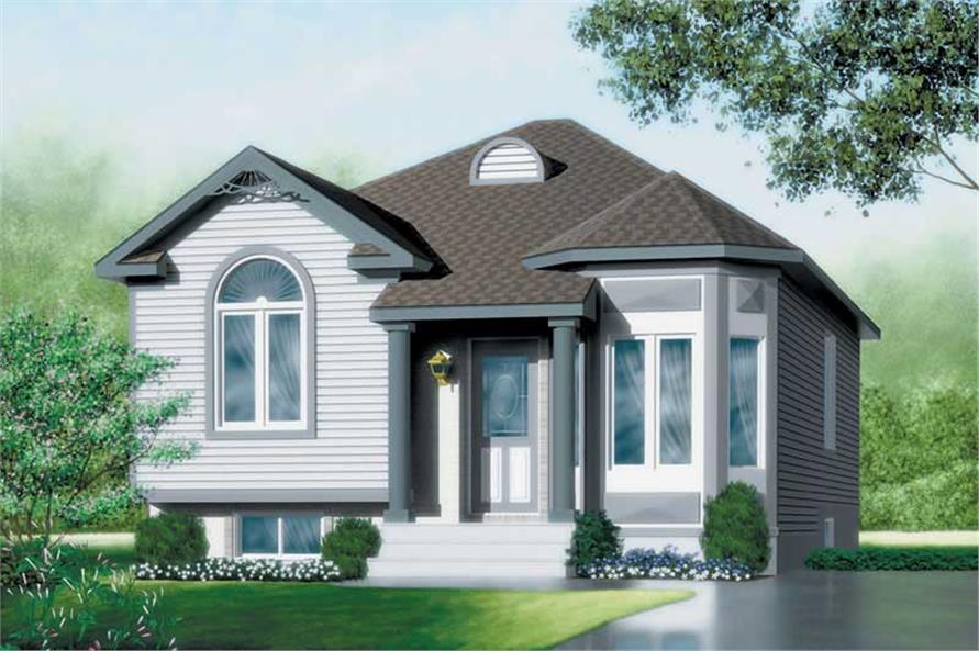 2-Bedroom, 921 Sq Ft Bungalow Home Plan - 157-1450 - Main Exterior
