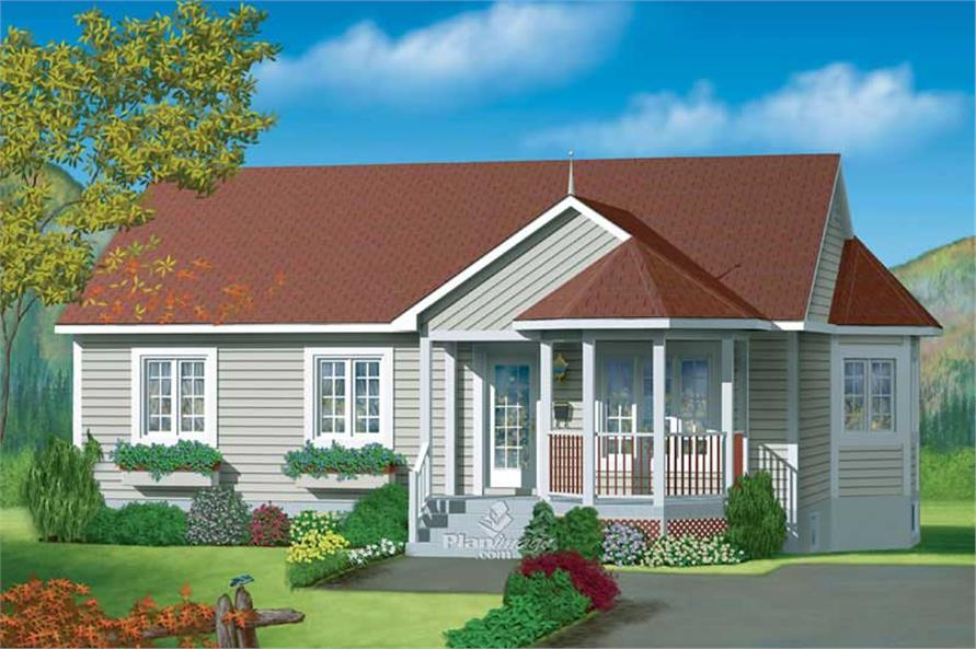3-Bedroom, 1078 Sq Ft Country House Plan - 157-1452 - Front Exterior