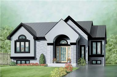 3-Bedroom, 1332 Sq Ft Small House Plans - 157-1453 - Main Exterior