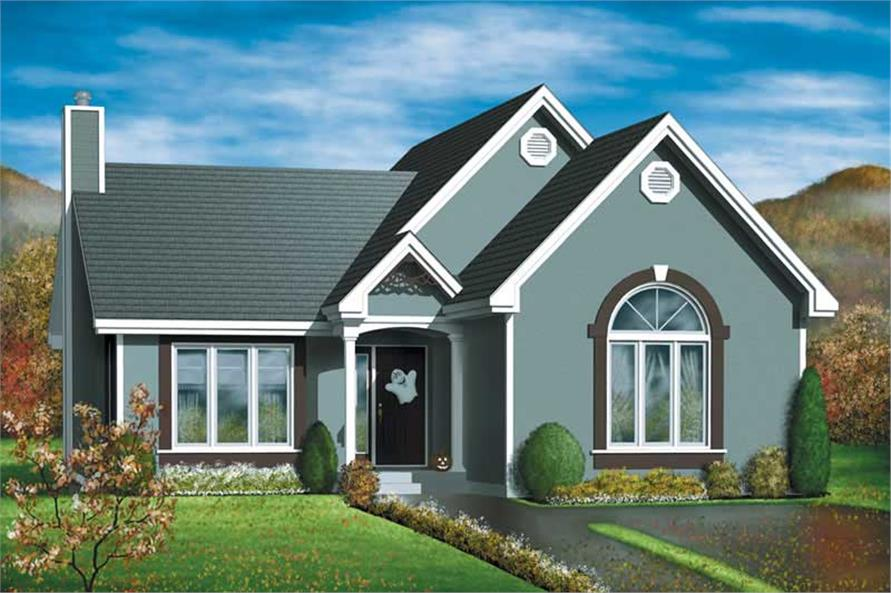 2-Bedroom, 1212 Sq Ft Bungalow Home Plan - 157-1454 - Main Exterior