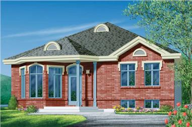 3-Bedroom, 1212 Sq Ft Bungalow House Plan - 157-1455 - Front Exterior