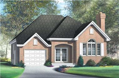 2-Bedroom, 1311 Sq Ft Craftsman Home Plan - 157-1457 - Main Exterior