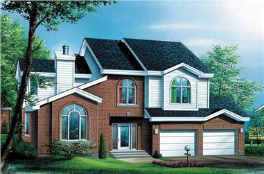 3-Bedroom, 2422 Sq Ft Craftsman House Plan - 157-1458 - Front Exterior