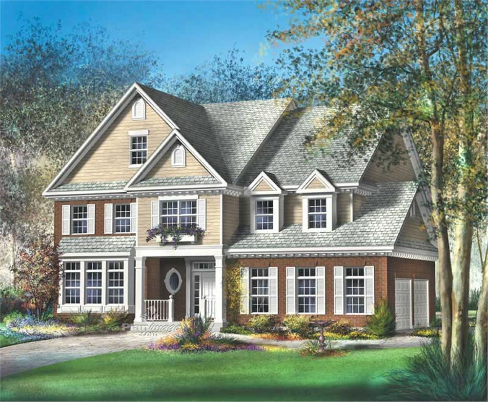Luxury home (ThePlanCollection: Plan #157-1460)