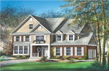 4-Bedroom, 5165 Sq Ft Luxury House Plan - 157-1460 - Front Exterior