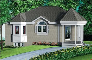 2-Bedroom, 889 Sq Ft Bungalow Home Plan - 157-1462 - Main Exterior