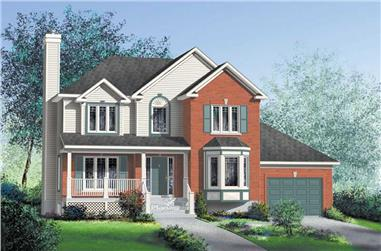 3-Bedroom, 1779 Sq Ft Country House Plan - 157-1463 - Front Exterior