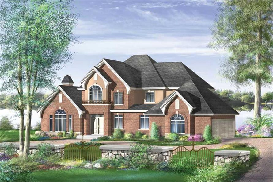 4-Bedroom, 2659 Sq Ft Multi-Level House Plan - 157-1466 - Front Exterior