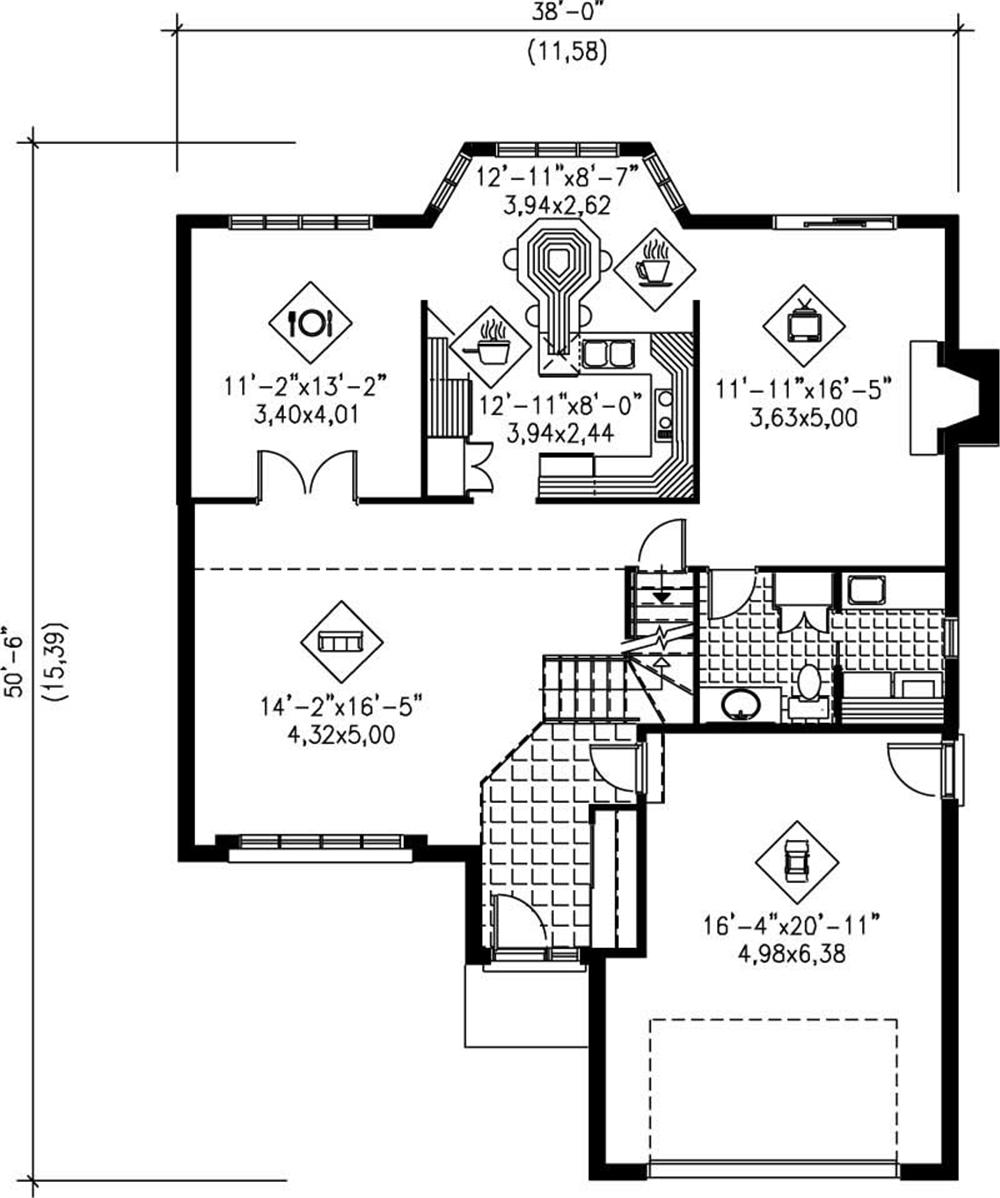 Large images for house plan 157 1468 for The house plan collection