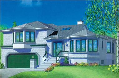 3-Bedroom, 1863 Sq Ft European Home Plan - 157-1471 - Main Exterior