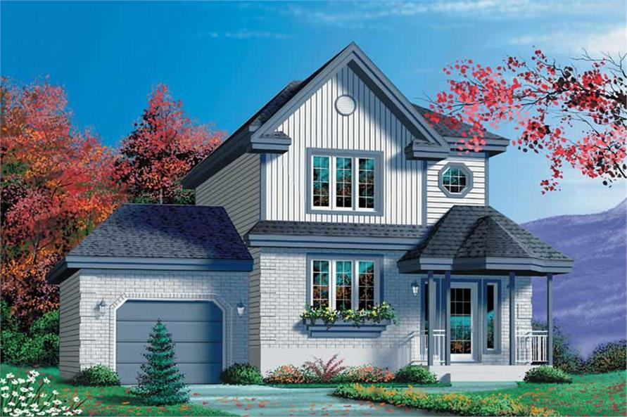 3-Bedroom, 1216 Sq Ft Craftsman House Plan - 157-1472 - Front Exterior