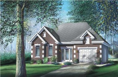 2-Bedroom, 1147 Sq Ft Craftsman Home Plan - 157-1476 - Main Exterior