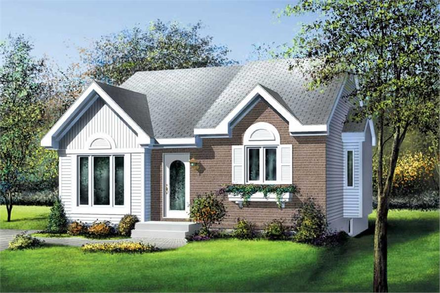 2-Bedroom, 964 Sq Ft Bungalow Home Plan - 157-1478 - Main Exterior