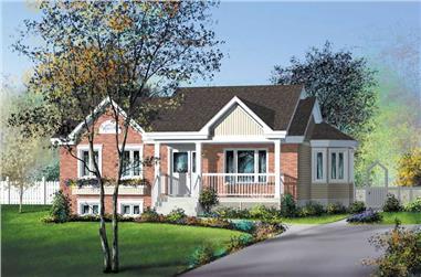 2-Bedroom, 1008 Sq Ft Ranch Home Plan - 157-1479 - Main Exterior