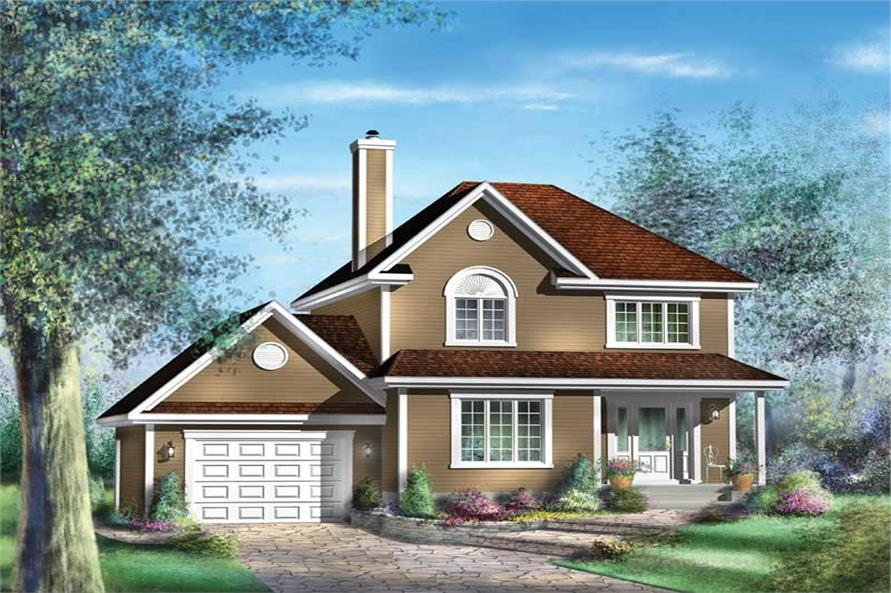 3-Bedroom, 1422 Sq Ft Country House Plan - 157-1480 - Front Exterior