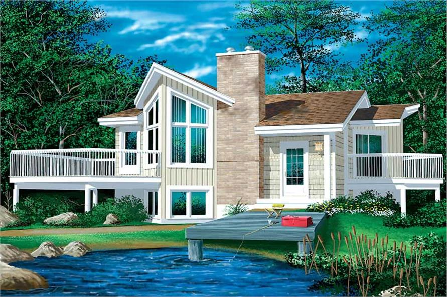 1-Bedroom, 772 Sq Ft Country Home Plan - 157-1482 - Main Exterior