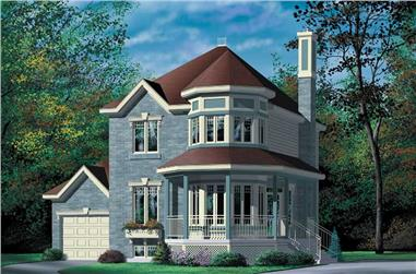2-Bedroom, 1462 Sq Ft Small House Plans - 157-1483 - Front Exterior
