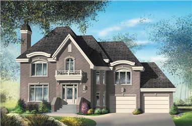 3-Bedroom, 2335 Sq Ft Multi-Level Home Plan - 157-1487 - Main Exterior