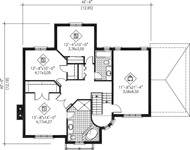 Multi level house plans home design pi 20843 12256 for Multi level floor plans