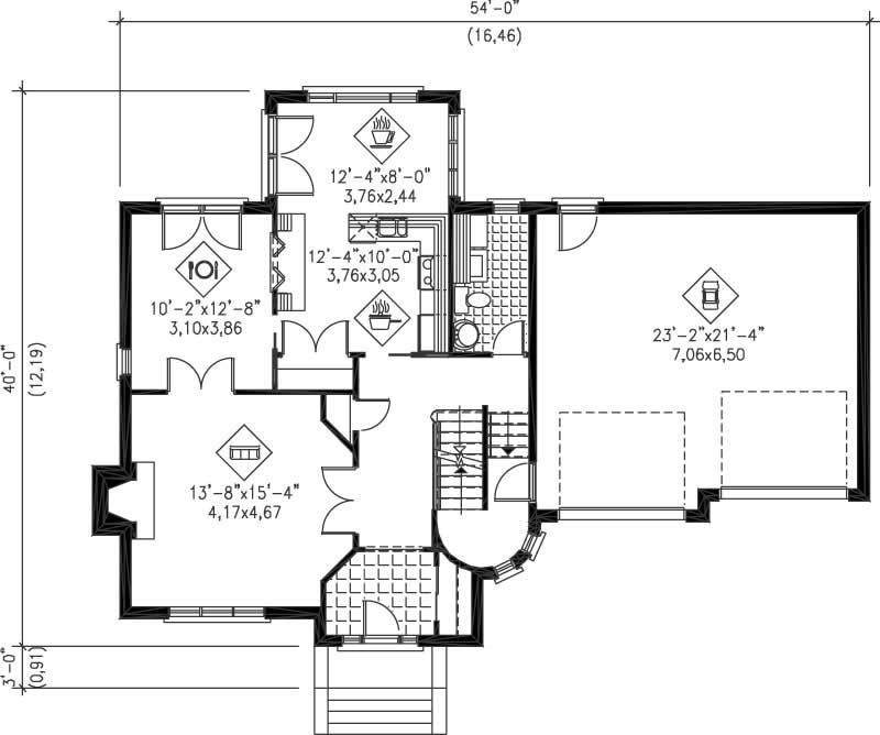 Multi level house plans home design pi 20843 12256 for Multi level floor plans