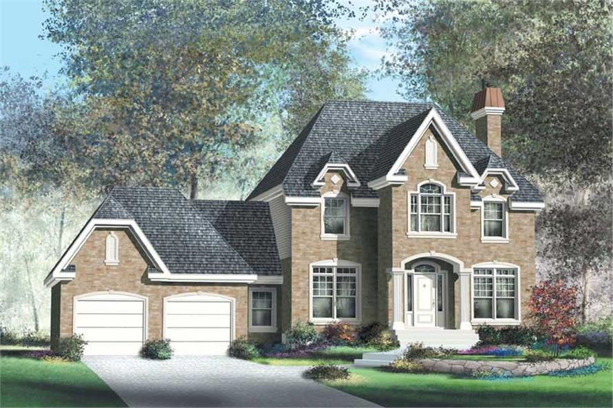 3-Bedroom, 2492 Sq Ft Multi-Level Home Plan - 157-1489 - Main Exterior