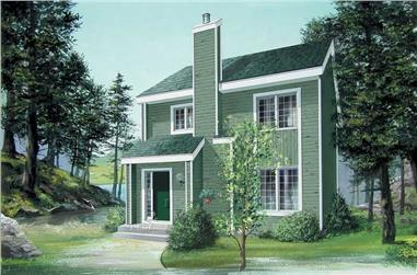 3-Bedroom, 1388 Sq Ft Log Cabin Home Plan - 157-1490 - Main Exterior
