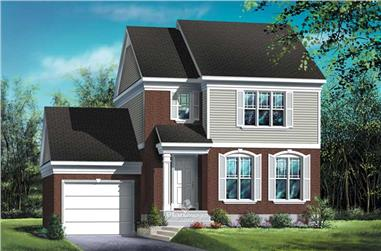 2-Bedroom, 1392 Sq Ft Small House Plans - 157-1491 - Main Exterior