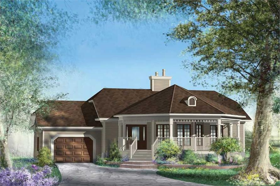 2-Bedroom, 1146 Sq Ft Country House Plan - 157-1498 - Front Exterior