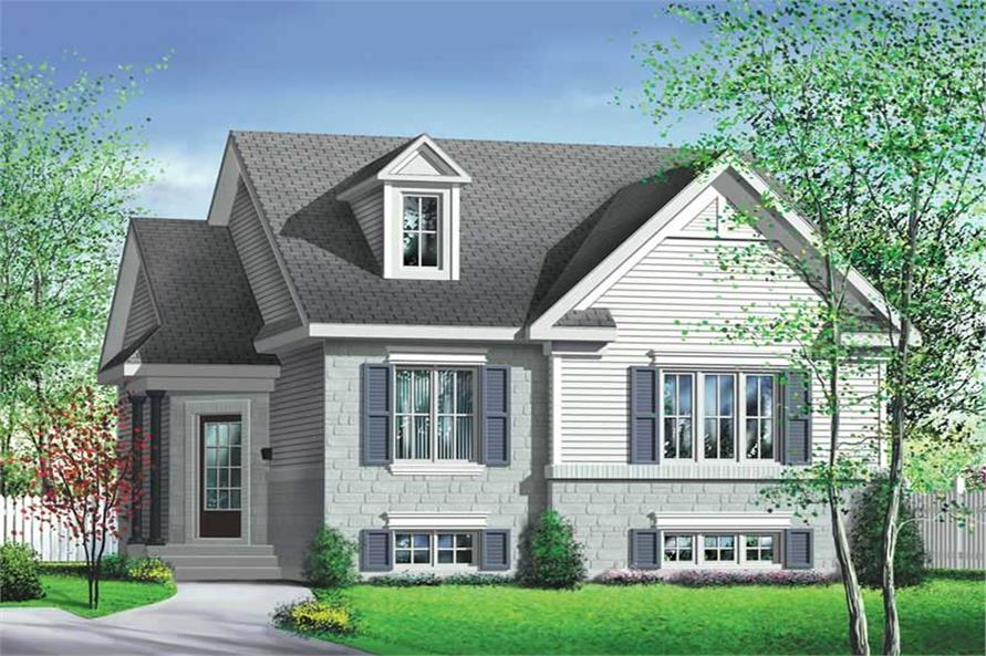 2-Bedroom, 1006 Sq Ft Bungalow House Plan - 157-1499 - Front Exterior