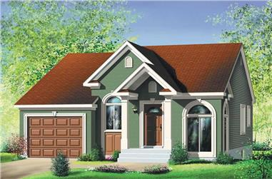 2-Bedroom, 1029 Sq Ft Bungalow House Plan - 157-1500 - Front Exterior