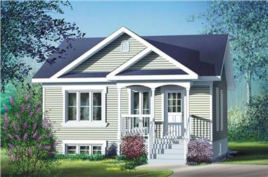 2-Bedroom, 780 Sq Ft Bungalow House Plan - 157-1501 - Front Exterior
