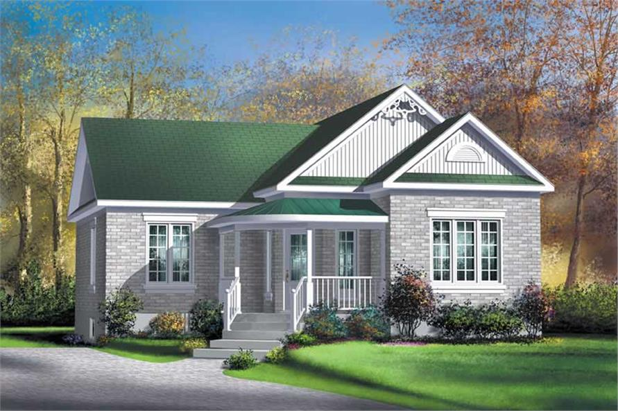 2-Bedroom, 957 Sq Ft Bungalow House Plan - 157-1502 - Front Exterior