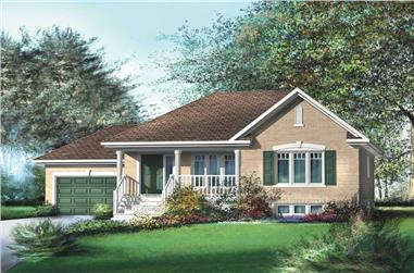 2-Bedroom, 926 Sq Ft Country Home Plan - 157-1503 - Main Exterior